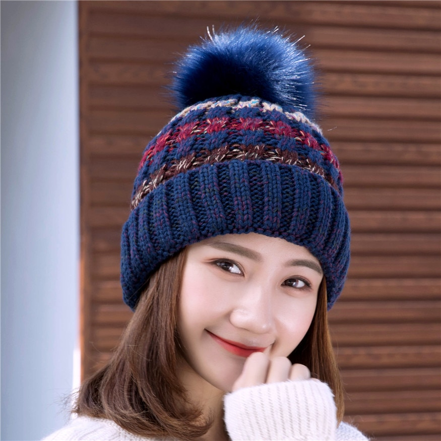 2017 new lambswool wool knit knitted pom pom winter women female girl tippet hat beanie gloves scarf bundle set mom warm hat Woman Knit Beanie Hat and Scarf Hairball Pom Pom Hats Female Thick Hat 2pcs Winter Warm Cute Girls Fashion Cap Collar Suit
