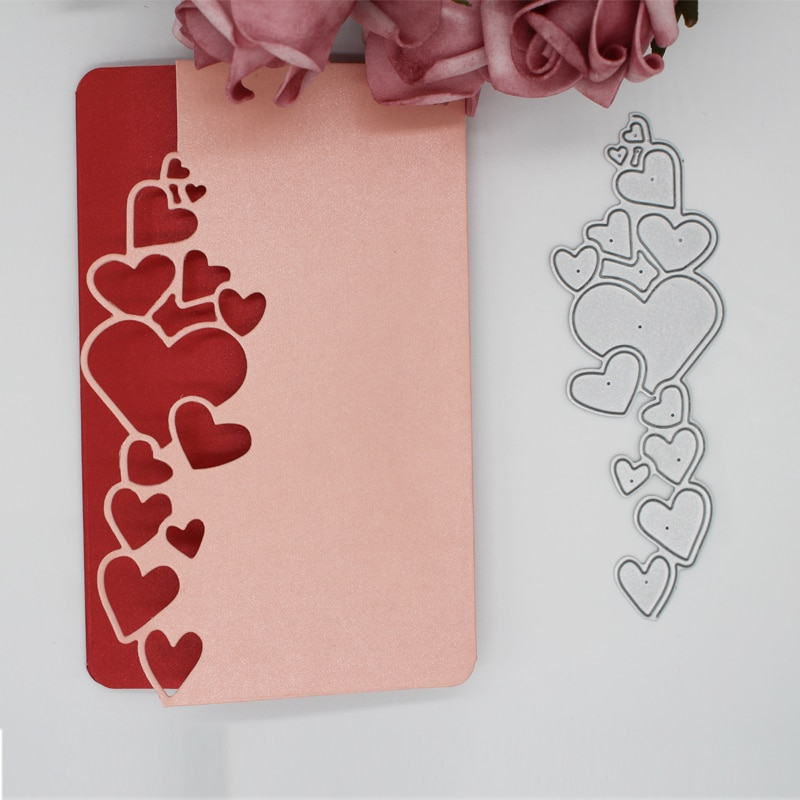 heart lace decoration Metal steel frames Cutting Dies DIY Scrap booking Photo Album Embossing paper Cards 4.3*12.8cm