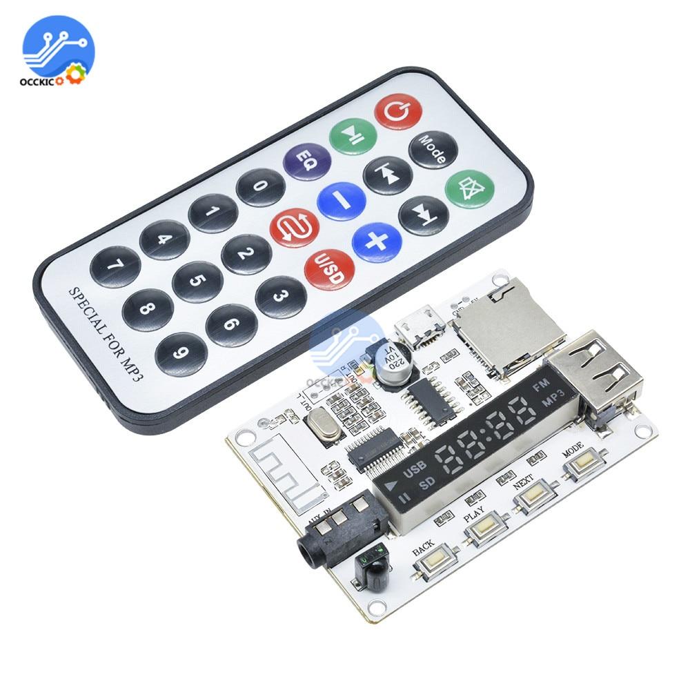 Bluetooth mp3 decodificador placa dac equipo de sonido player módulo rádio fm usb/tf lcd controle remoto digital decodificador de áudio