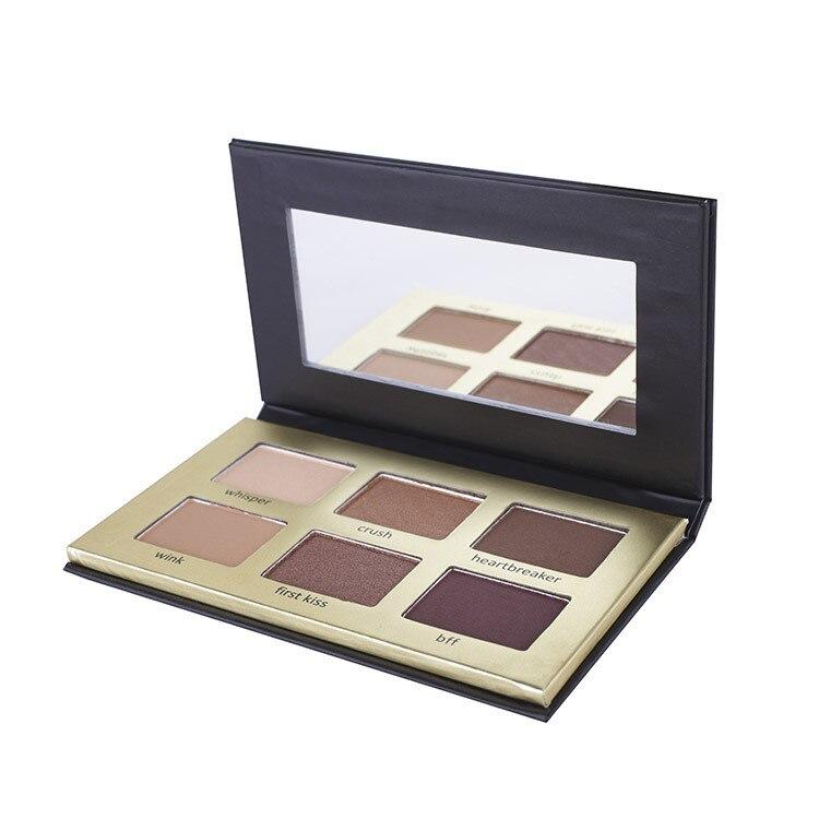 Pigmento de paleta de sombra de ojos Retro de 6 colores, pigmento, polvo de maquillaje de marca, belleza, brillo impermeable, mate, sombra de ojos en polvo ahumado