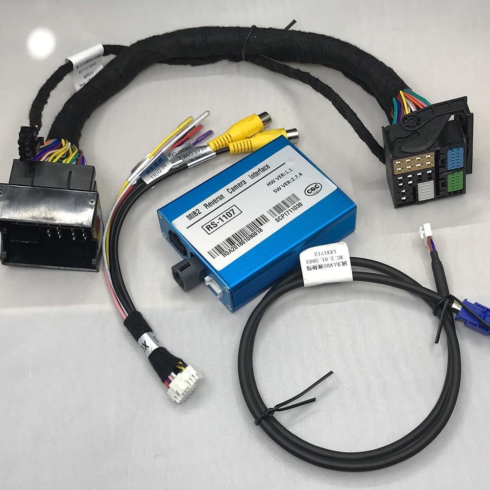 Plug and play añadir sistema de cámara delantera y inversa en el adaptador de interfaz de cámara de estacionamiento de coche para Volkswagen vw golf 7 Accesorios