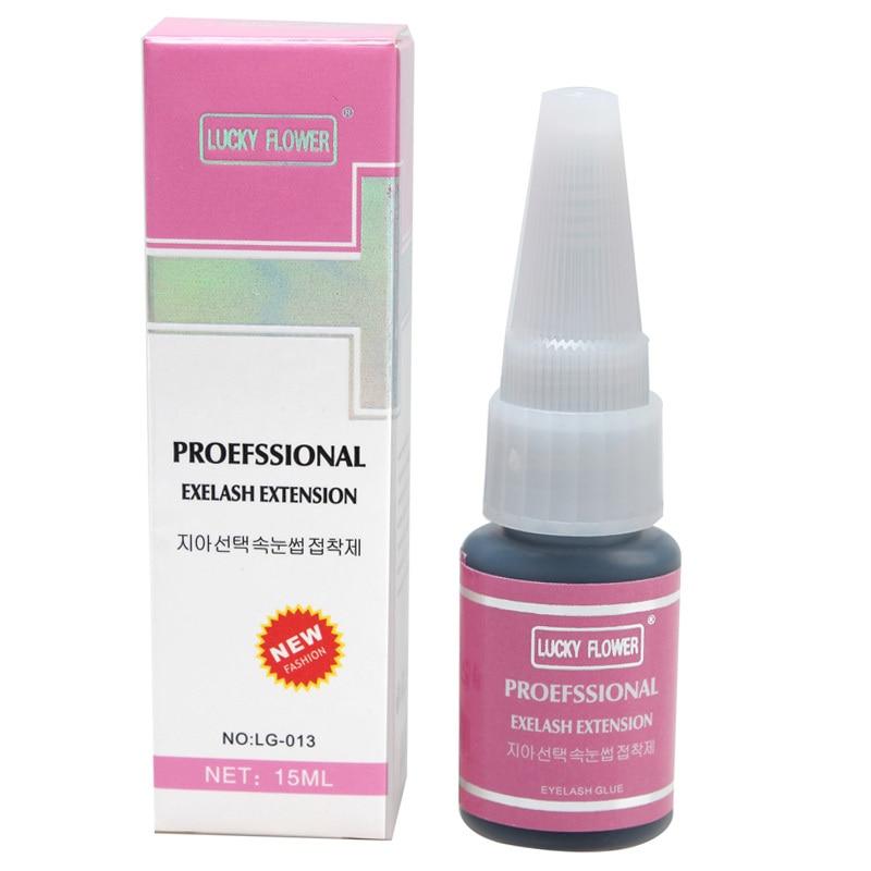 New 15ml strong sticky glue for lashes professional makeup eyelash glue Odourless Non Irritant eyelash extension glue