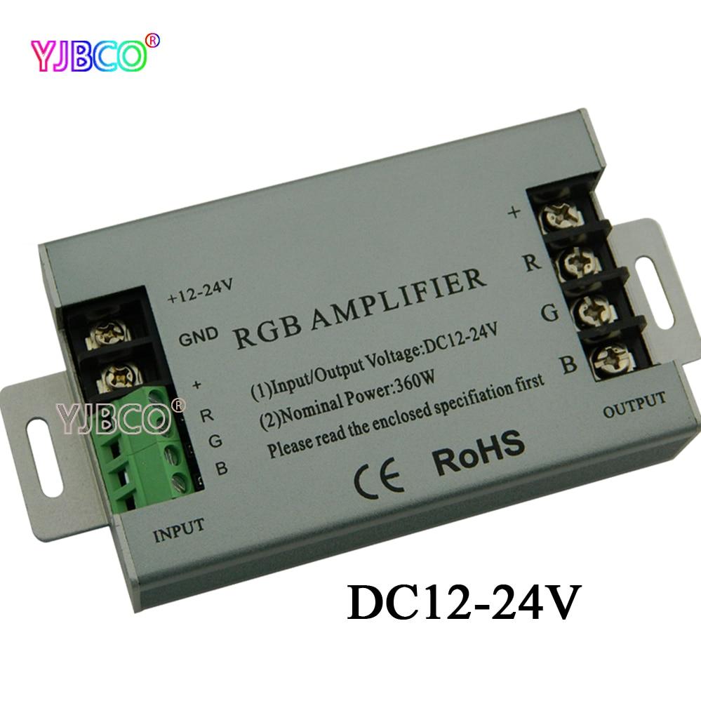 360W RGB led مكبر للصوت تحكم DC12V-24V 30A الألومنيوم قذيفة ل RGB 5050 3528 SMD LED قطاع مصباح