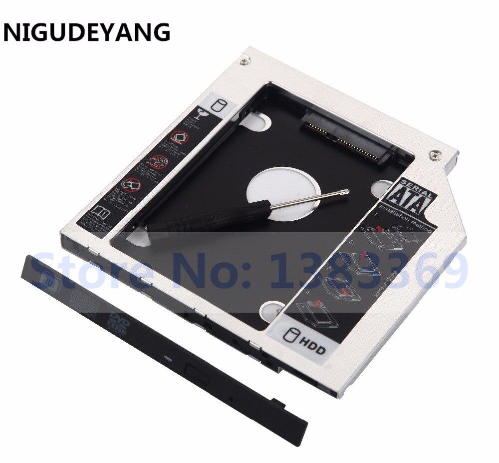 Disco Duro NIGUDEYANG 2nd HDD SSD Caddy para HP PAVILION serie dm4 dm4-2001er reemplazar TS-U633J DVD ODD