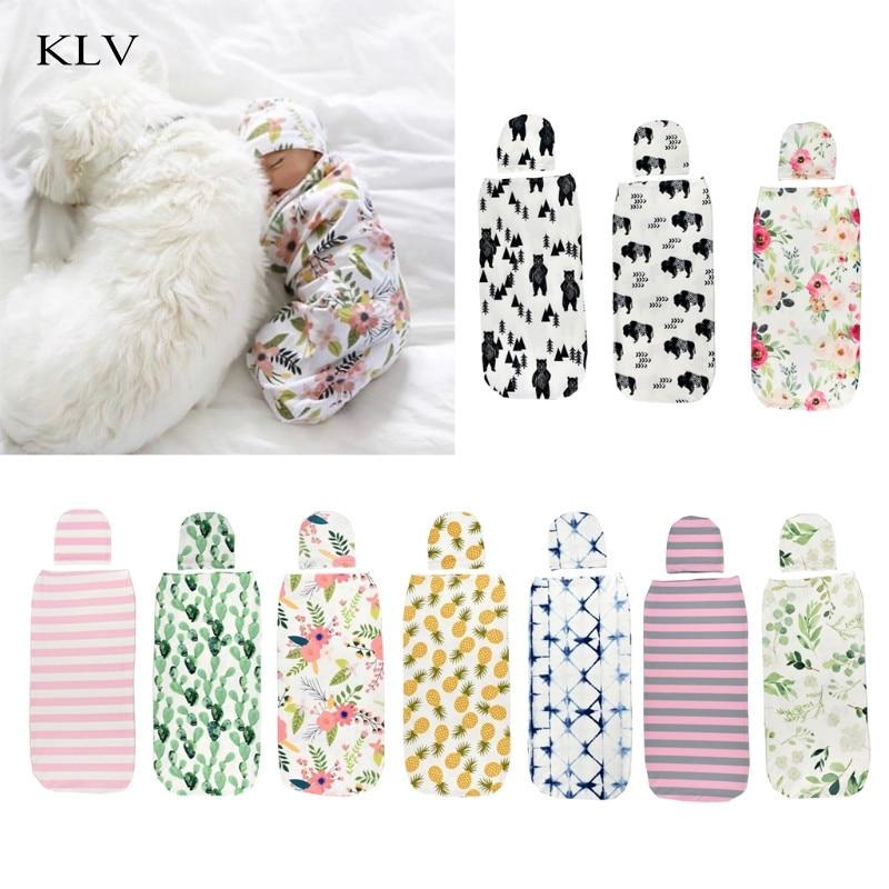 Manta para bebé, gorro, manta para recién nacido, bolso de pañales de algodón, sobres para bebé, accesorios de cama para dormir