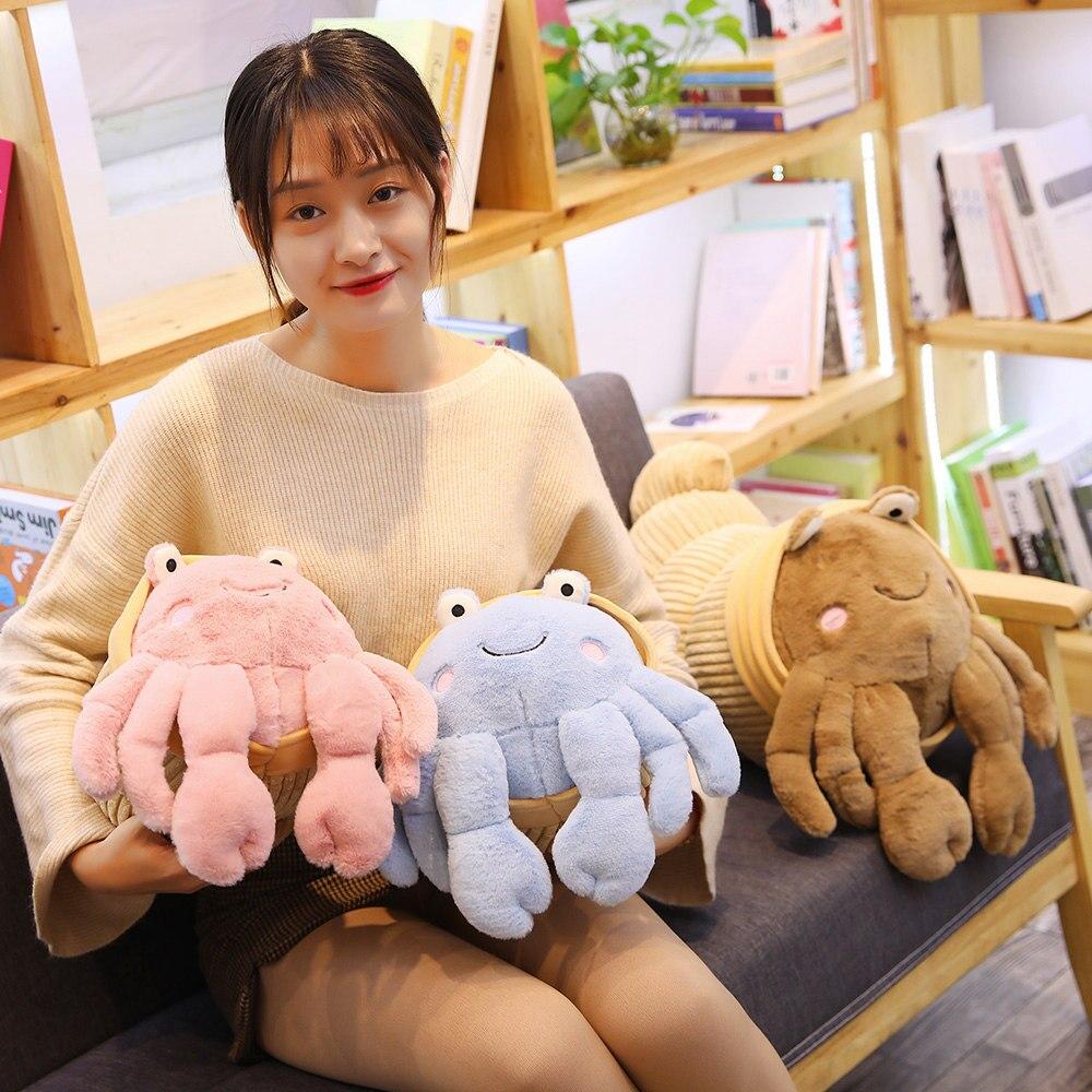 2019 New Hot 35CM Creative Funny Real life Hermit Crab Plush Toys Dolls Stuffed Soft Coenobita Crab sea animal Throw Pillow