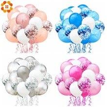 1 Set palloncini metallici coriandoli con nastro festa di compleanno palloncino elio decorazioni Festival di nozze Balon forniture per feste