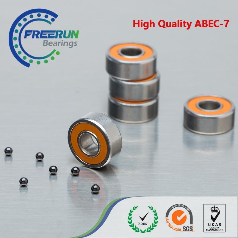 5 قطعة 5X11X4mm SMR115 2OS CB ABEC7 LD 5x11x4 الفولاذ المقاوم للصدأ الكرة السيراميك هجين تحمل الصيد بكرة Bearin