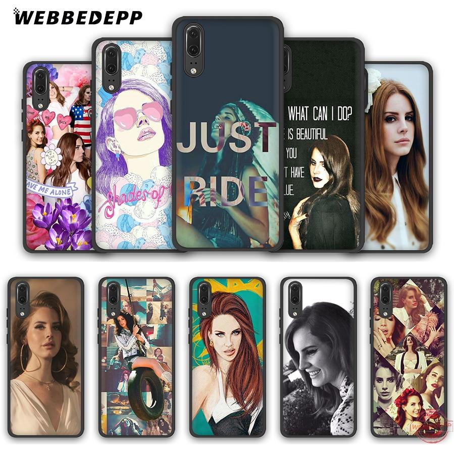 WEBBEDEPP New Lana Del Rey Soft Case for Huawei P8 P9 P10 P20 P30 Lite Pro 2017 2018 2019 Cover