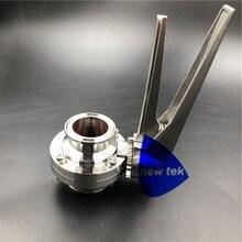 """Tritrébol de grado alimenticio 1,5 """"válvula de mariposa Compatible SS304 gatillo de apretar manejar silicio/EPDM"""
