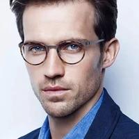 eleccion titanium rim optical prescription glasses frame men women ultralight full frames round myopia eyeglasses korea denmark