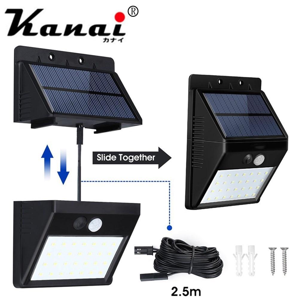 Solar Lights Outdoor 28 LED Waterproof Motion Sensor Security Light Detachable Design Wall Light  for Driveway Garden