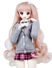 1/3 BJD Wig Pullip Dal DD SD LUT Dollfie Doll Wig High Temperature Hair 8-9 inch Long Pink Wave Wig