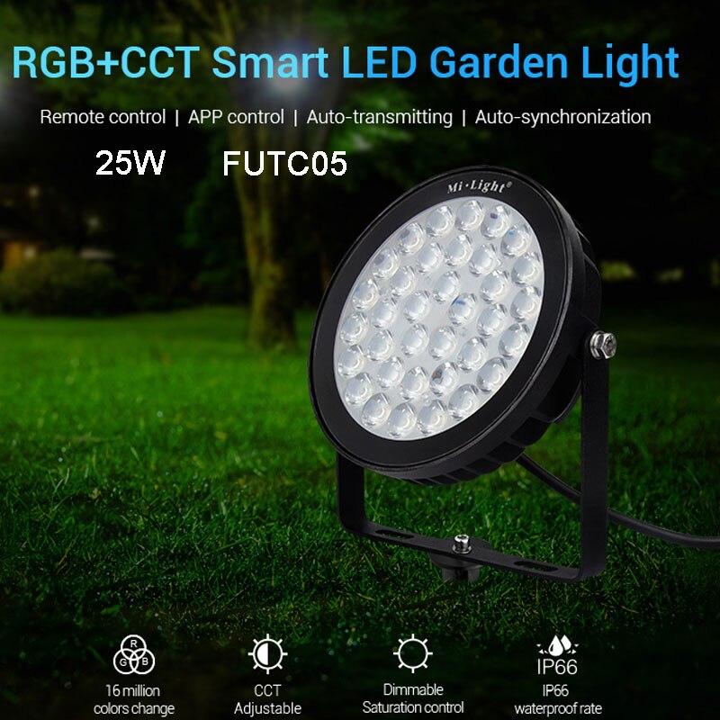 Nueva lámpara de jardín led inteligente impermeable 25W RGB + CCT luz LED para jardín FUTC05 IP66 compatible con FUT089 B8 FUT 092 remoto MiBOXER