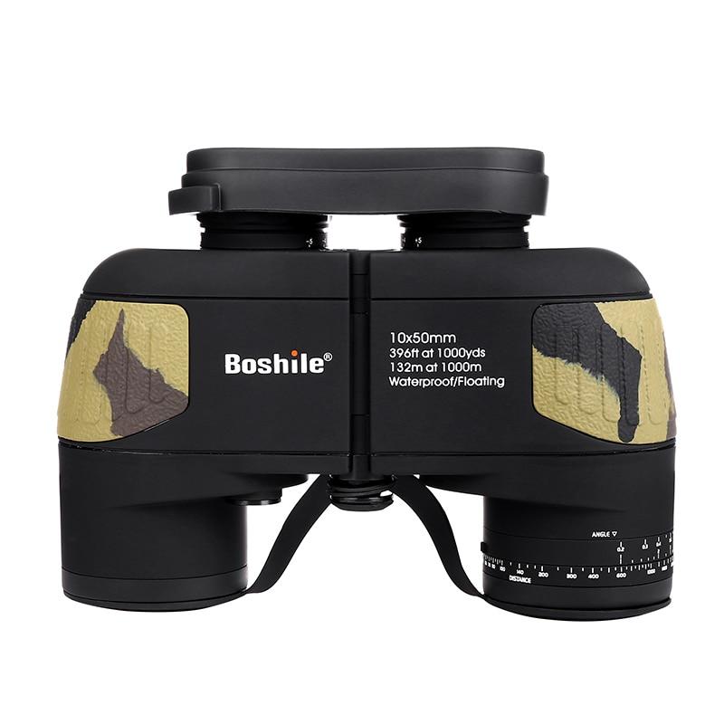 Military Waterproof HD 10X50 binoculars Telescope professional waterproof BAK4 prismaticos Range finder Distance hunting vision