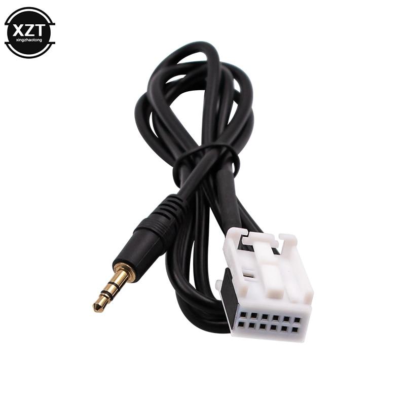 Cable auxiliar de coche 3,5 MM Adaptador de Audio MP3 para Peugeot 307 308 408 407 507 Sega Triumph Citroen C5 C2 RD4 para Blaupunkt para iPhone