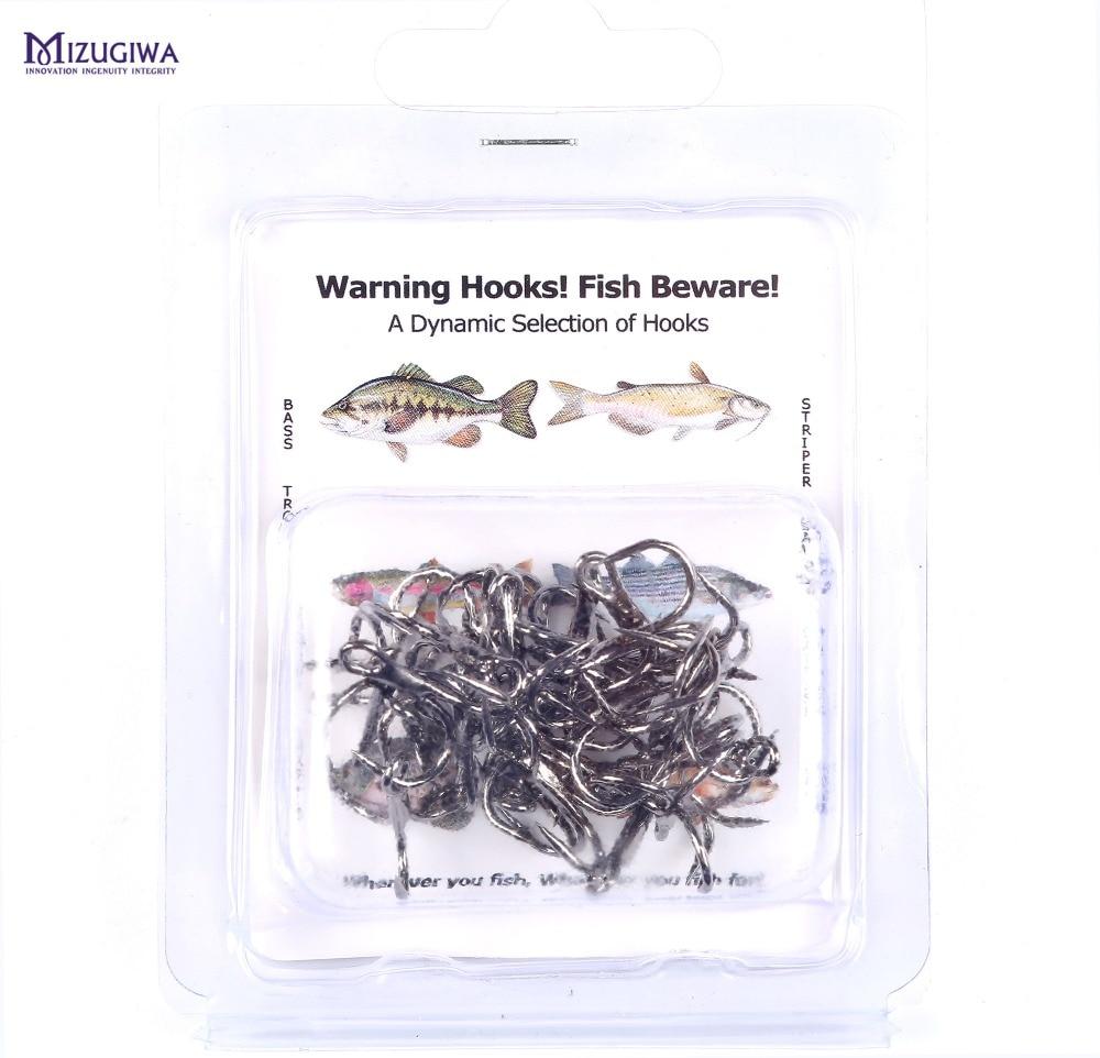 MIZUGIWA-vástago corto de plástico suave para pesca, anzuelos triples, ganchos de camarón...