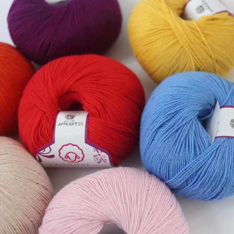 Бесплатная доставка, 50 г/шар, не скатывается, кашемир, мериносовая шерсть, мягкая, супер теплая, для ручного вязания, Тонкая нить A для малышей