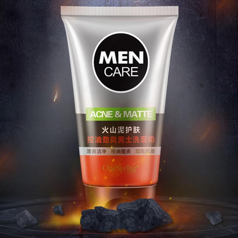 Hot NEW Men Face Wash Foam Scrub Facial Cleanser for Oily Skin Blackhead Black Head