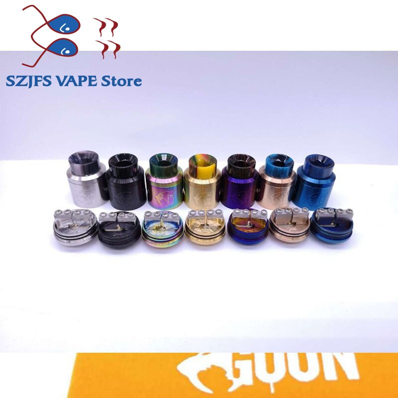 Electronic Cigarettes Goon v1.5 RDA adjustable rebuildable drops goon 528 RDA e-Cigarette atomizer tank with pin BF 24mm vs qp enlarge