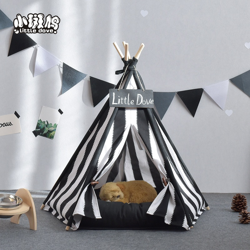 Canil caja para gatos pequeños y medianos suministros para perro mascota nido lavable mascota tienda perro Otoño e Invierno villa