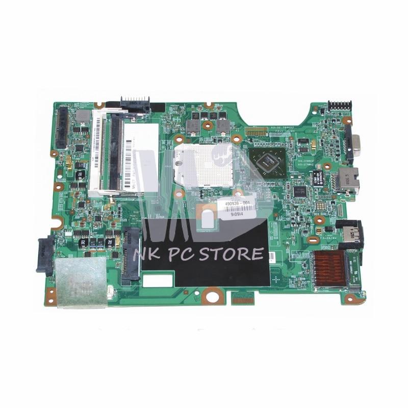 Nokotion 490939-001 48.4j103.011 placa principal para compaq presario cq50 g50 cq60 g60 portátil placa-mãe soquete s1 ddr2 cpu livre