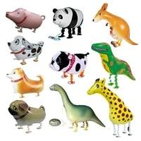 helium walking animal balloons foil safari party dinosaur dog pig ballons birthday party decorations kids jungle baloon supplies