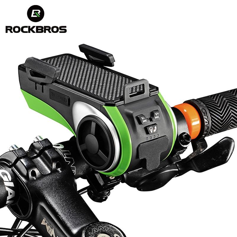 Rockbros водонепроницаемый велосипедный держатель телефона аудио плеер спикер 4400 мАч прокат кольцо колокола велосипедный свет и бубенец