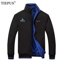 TIEPUS veste décontractée double face hommes, printemps et automne nouvelle veste de sport avec impression de broderie