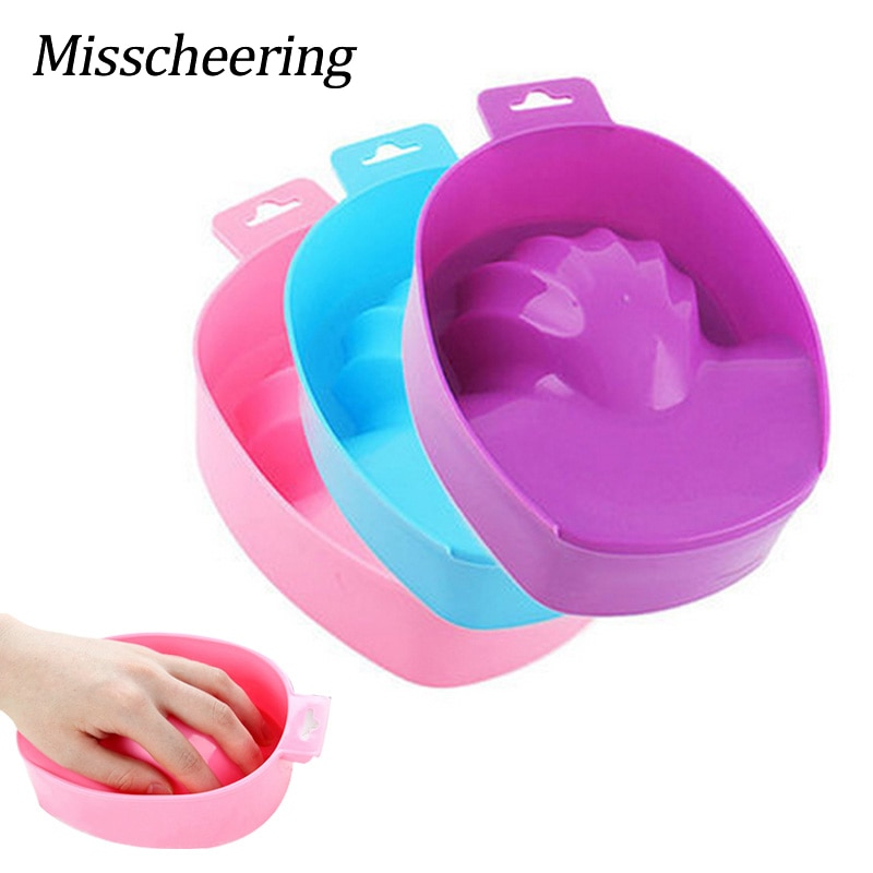 1pcs Nail Art Hand Wash Remover Soak Bowl DIY Salon Nail Spa Bath Treatment Manicure Tools