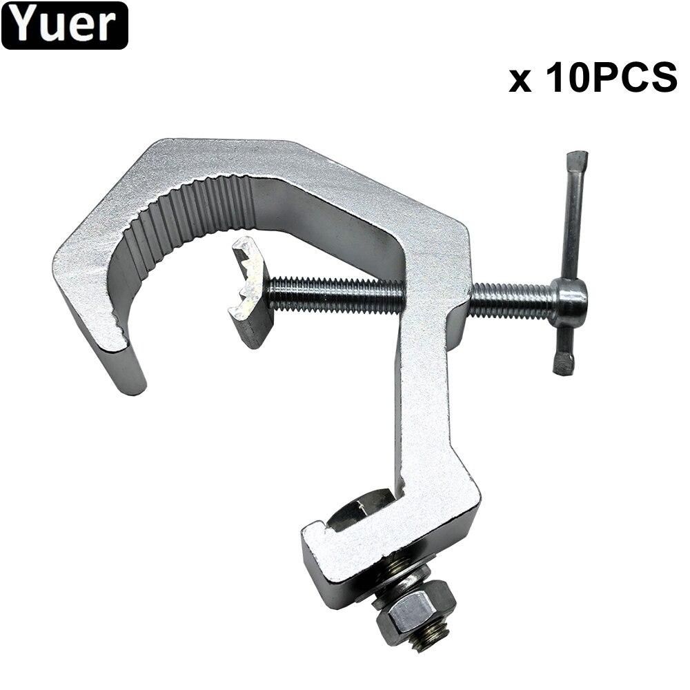 10Pcs/Lot Oxidation Cast-Aluminium Stage Light Hook For 150KG 30-60mm Clamp Hanger Hook Bracket Steel LED Stage Theatre Lighting