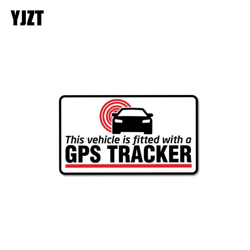 YJZT 11CM*6.2CM Warning Car Sticker PVC GPS Tracker Fitted Decal 12-1041