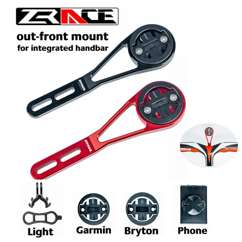 ZRACE Bike Computer Holder for Bryton Gopro GARMIN Speedometer Mount CNC Bike Stopwatch Integrated Handlebar Out Front Holder