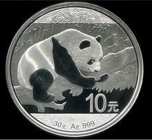 2016 год панда Посеребренная монета 1 унция 10 юаней Посеребренная монета с оригинальной коробкой и сертификатом