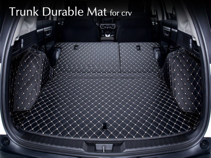 Para Honda CRV 2018, 2017, 2012-2016 trasera coche Mat tronco Durable de alfombras cobertura completa cubiertas de coche