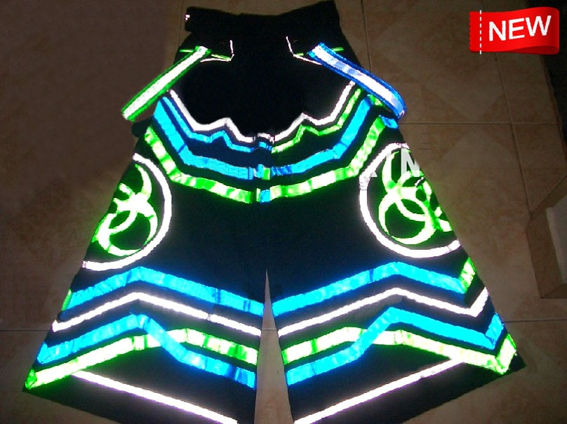 Envío Gratis fluoreszierend biológico PHAT pantalones Raver mineral Techno Hardstyle Tanz manguera Melbourne Shuffle pantalones nuevos