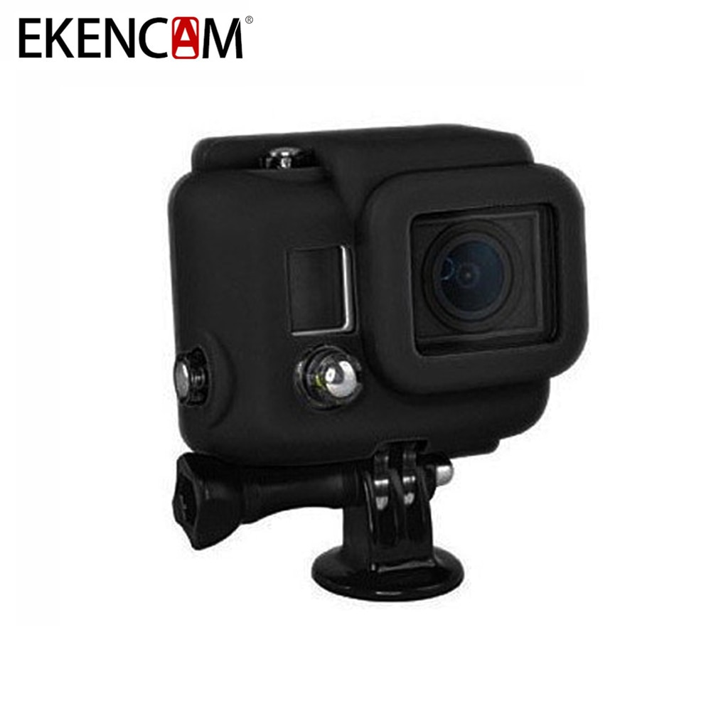 EKENCAM 3 Cores Suave Borracha de Silicone Caso Capa Protetora Saco Da Câmera para Gopro Hero 4 3 + Camera Para GoPro Hero 4 Acessórios
