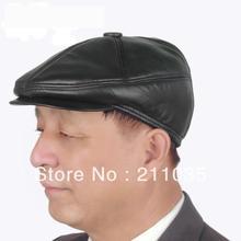 ¡Oferta! sombrero de piel de oveja para invierno con orejas térmicas para hombre,