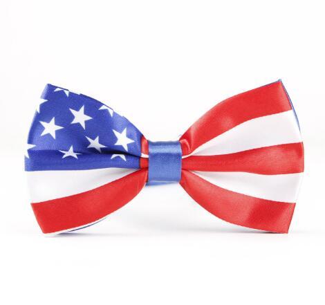 10 sztuk/partia muszka stany zjednoczone wielka brytania flaga muszki męskie Bowknot krawat krawat na ślub misji handlowej