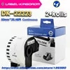 2 rouleaux d'étiquettes compatibles DK-22223 50mm x 30.48M en continu Compatible avec l'imprimante Brother QL-570 QL-700 tous livrés avec un support en plastique