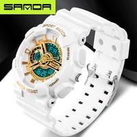Новый бренд SANDA модные часы мужские светодиодные цифровые часы G уличные многофункциональные водонепроницаемые военные спортивные часы ...
