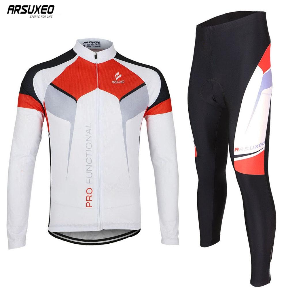 ARSUXEO-Camiseta para ciclismo ZLSO7X, camisetas de manga larga para hombre