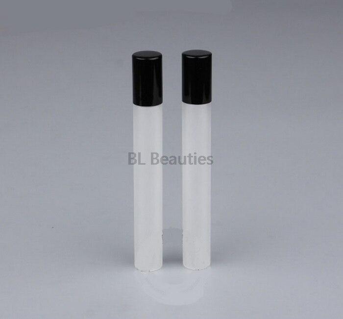 300 unids/lote 10ML botella de vidrio esmerilado Roll On botella rellenable aceite esencial Bola de rodillo de cristal fragancia Perfume