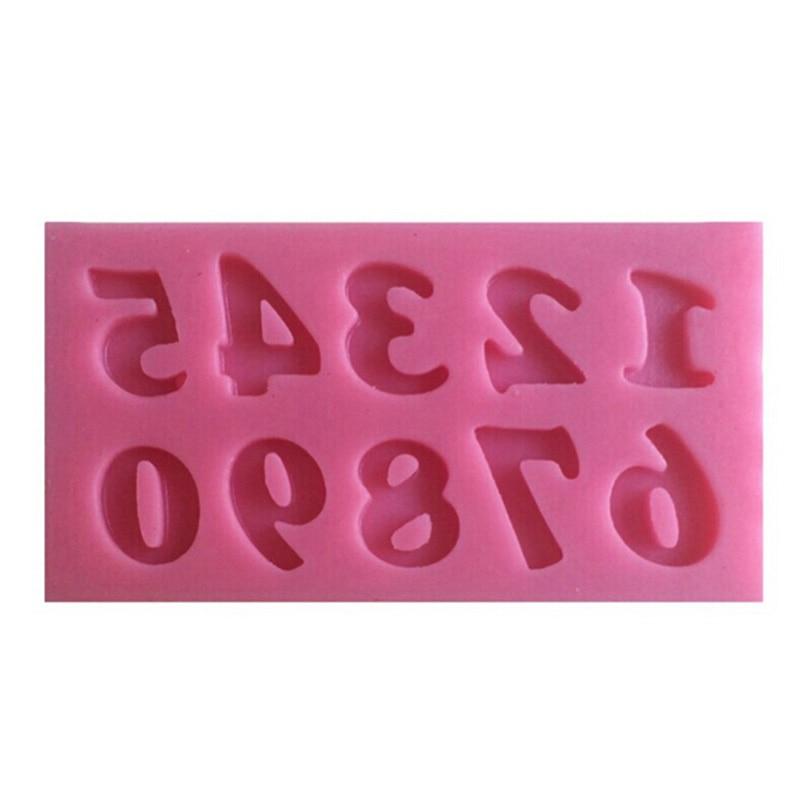 MINI Stil 0-9 Zahlen Fondant Kuchen Formen Backen Küche Kuchen Werkzeug Fondant Dekoration Seife Schokolade Mould