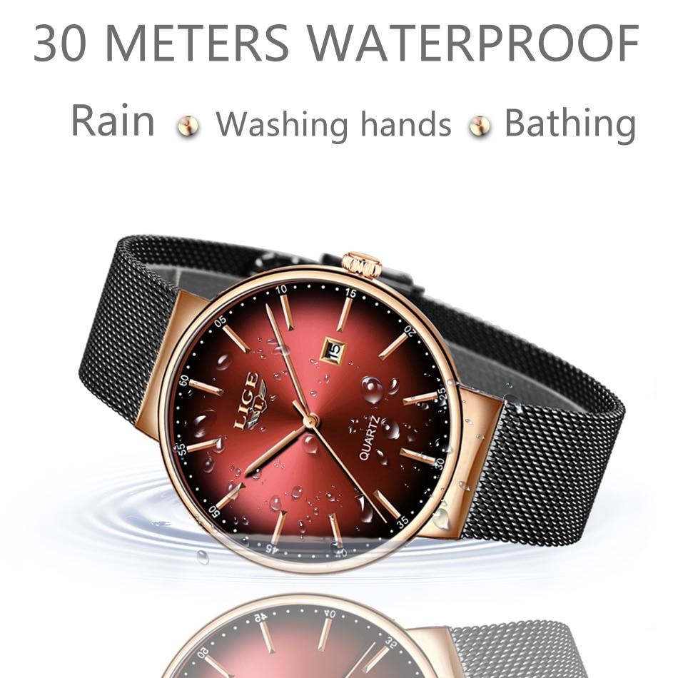 Ultra thin Ladies Watch Brand Luxury Women Watches Waterproof Rose Gold Stainless Steel Quartz Calendar Wrist Watch montre femme enlarge