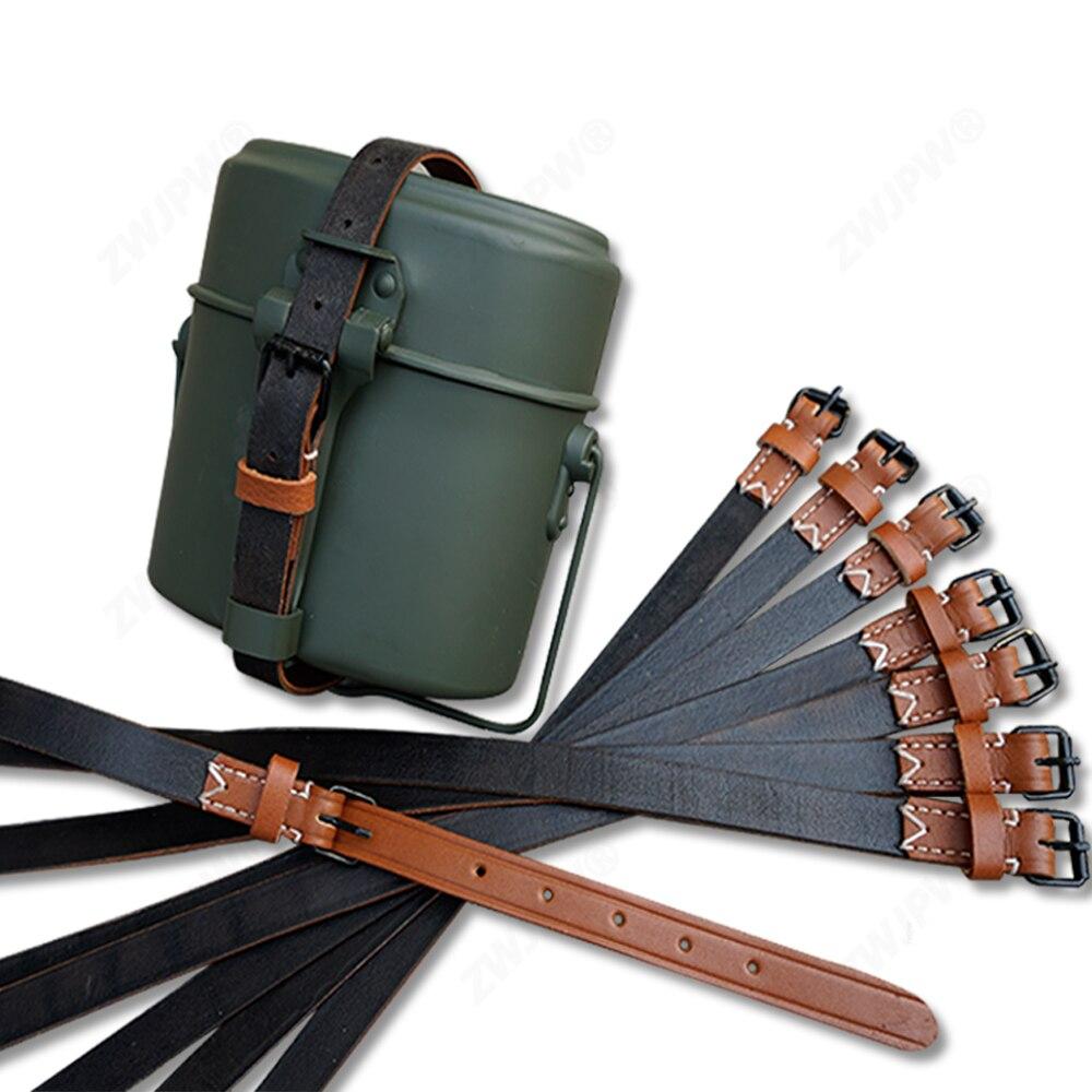 Второй мировой войны WW2 Военная армейская коробка для ланча кожаный ремешок только для столовой кожаный ремешок без столовой