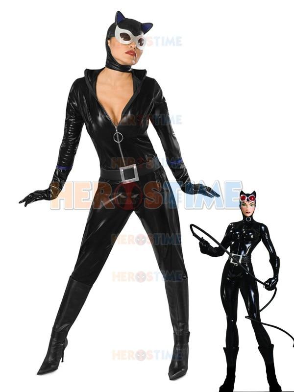 Superhéroe gatúbela traje negro brillante metálico Halloween Cosplay Batman traje gran oferta Show Zentai traje