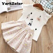 YorkZaler-vêtements de marque pour filles   Ensemble de vêtements pour petites filles, Design à motifs de beauté, ensembles de vêtements pour petites filles, hauts pour filles et pantalon, pour petits de 2 à 6 ans, 2019