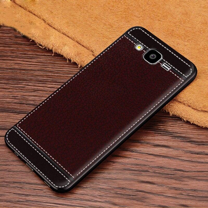 Vintage Premium Deri Doku Yumuşak TPU samsung kılıfı SM-G531H Galaxy Grand Başbakan VE G531H SM-G530H G530H G5308 SM-G531F