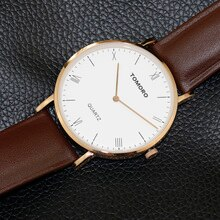 Reloj minimalista de lujo de marca famosa 2017 Unisex para mujer diseño Bauhaus neutral Ultra delgado Casual Calfskin Ban hombres reloj de negocios